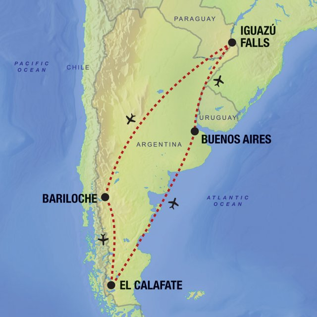 Highlights Of Argentina Latin Routes - Argentina highlights map
