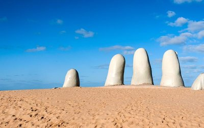 Punta Del Este Beach, Hand Sculpture