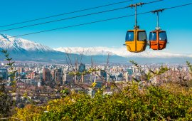 Cable car in San Cristobal hill