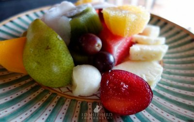 gorgeous plate of fruits
