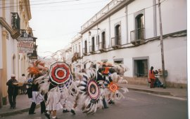 street celebration in bolivia