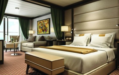Silversea double bed room