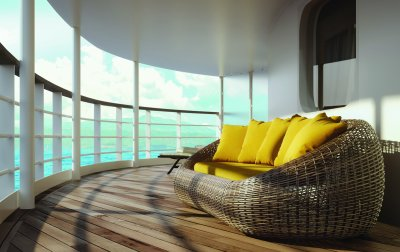 Silversea sofa with sea view