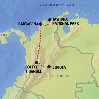Bogota, Coffee Triangle, Cartagena, Tayrona National Park