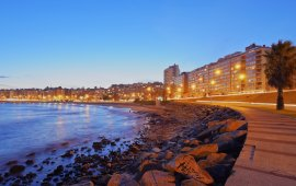 Montevideo at night